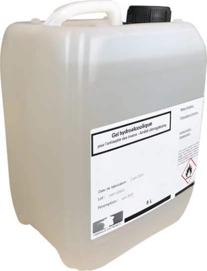 bidon gel hydroalcoolique