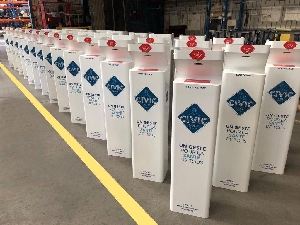 bornes speed, distributeurs de gel et solutions hydroalcooliques Civic Santé